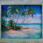 Little Palm Shutter Painting