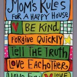Mom's Fun Rules 18x24