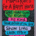 Mom's Laugh Rules 18x24