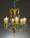 Multi Color Beach Glass Chandelier