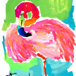 Ocean Drive Pink Flamingo