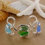 Sea Glass Circular Cuff