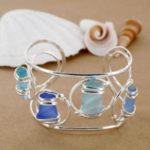 Sea Glass Four Stone Cuff