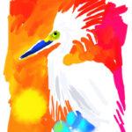 Sunset Egret