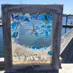 Beach Sea Glass Window