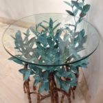 Copper Mangrove Tree Accent Table