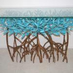 Copper Mangrove Tree Sofa Table