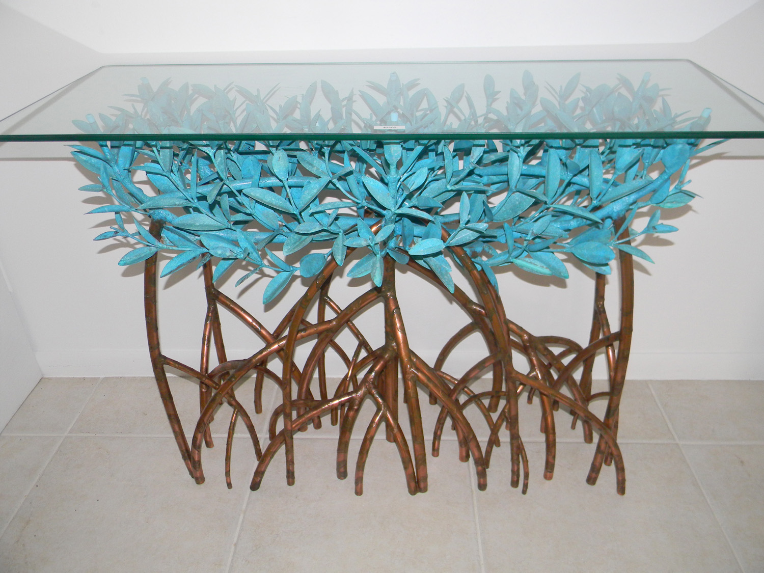 Copper Mangrove Tree Sofa Table Island Style Galleries